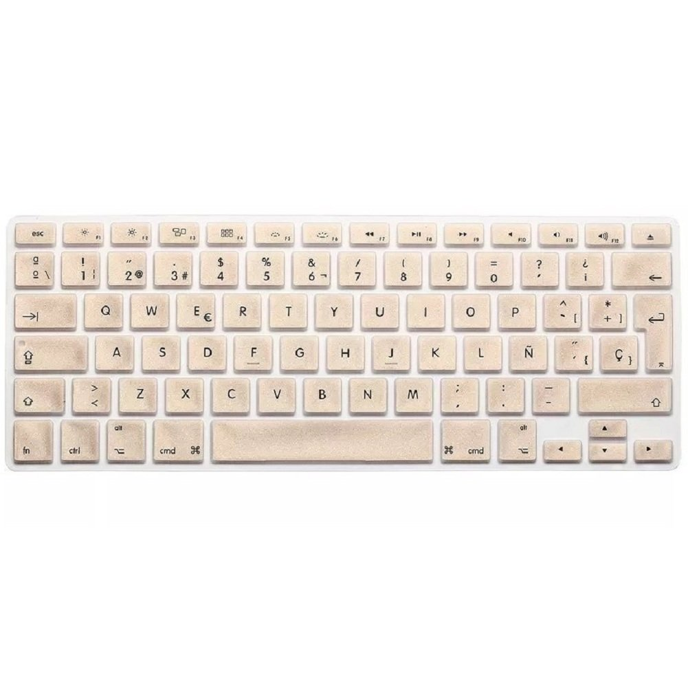 Keyboard Soft Case for Apple MacBook Air Pro 13//15//17 inches Cover Protector-Gold