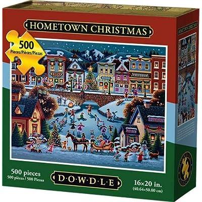 D·O·W·D·L·E Dowdle Jigsaw Puzzle - Hometown Christmas - 500 Piece: Toys & Games