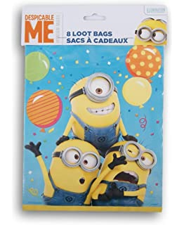 Despicable Me Minion Themed First Birthday Party Favor Loot Bags 8 Count 575d7dcd6c098