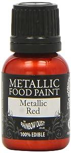 1 X Metallic Red Food Paint