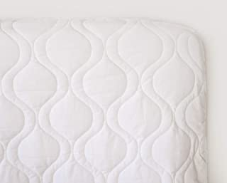 product image for SheetWorld Quilted Fitted Crib Mattress Pad 28 x 52, Solid White, Made in USA