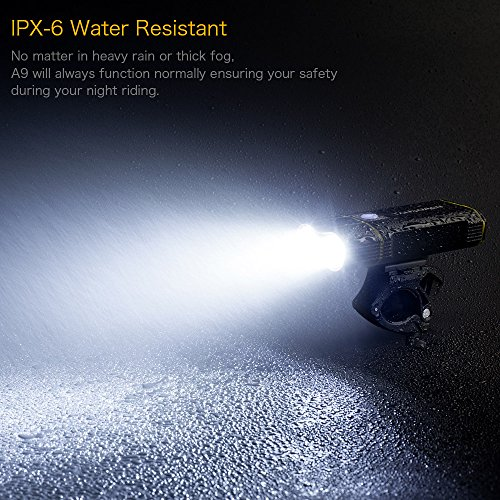 TANSOEN USB Rechargeable Bicycle Light Front and Back Set, 2000 Lumens LED Lamp Bike Headlight and COB Tail Light -【Upgrade Front Bike Light Base】 Waterproof 5 Light Modes for Road Cycling by TANSOREN (Image #7)