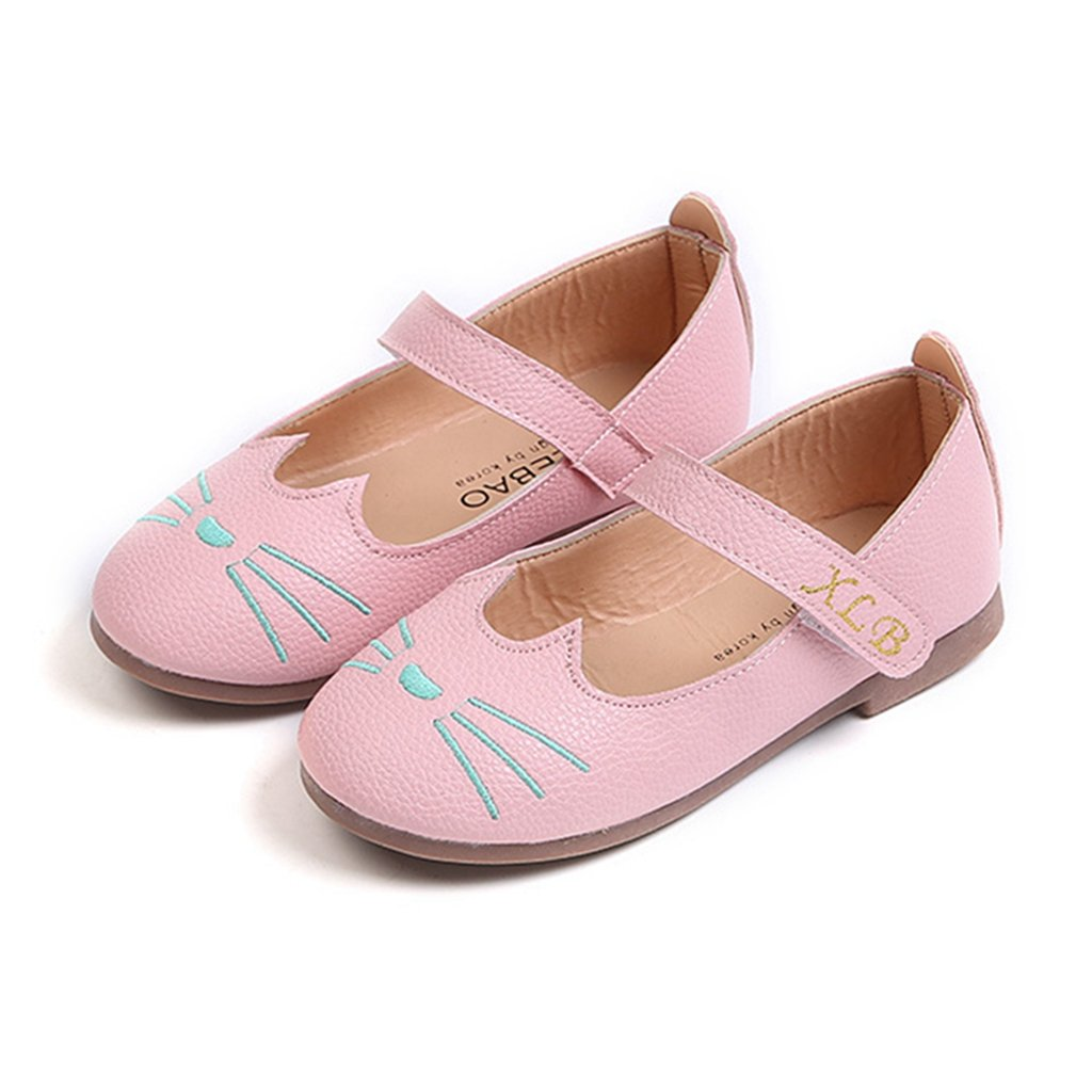 CYBLING Cute Girls Ballet Flats Casual School Mary Jane Shoes (Toddler/Little Kid)