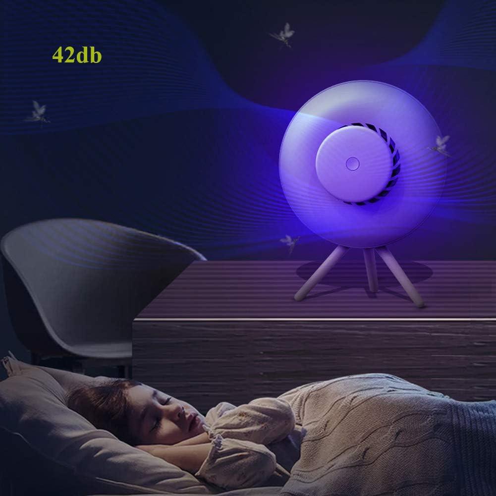 ELEYHO Insektenlampe Mückenfalle USB Mosquito Killer Lampe Mit UV-Licht Silent Saugventilator, Augenschutz Nachtlicht Für Zu Hause Küche Schlafzimmer,A B