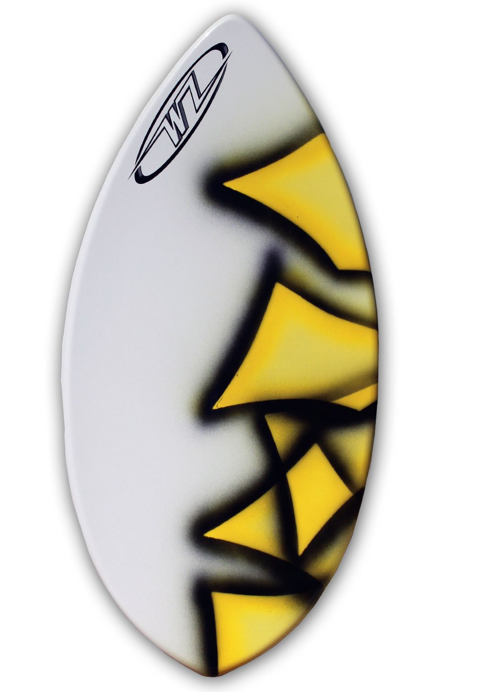 Wave Zone Edge - 41'' Fiberglass Skimboard for Riders up to 130 Lbs - Yellow