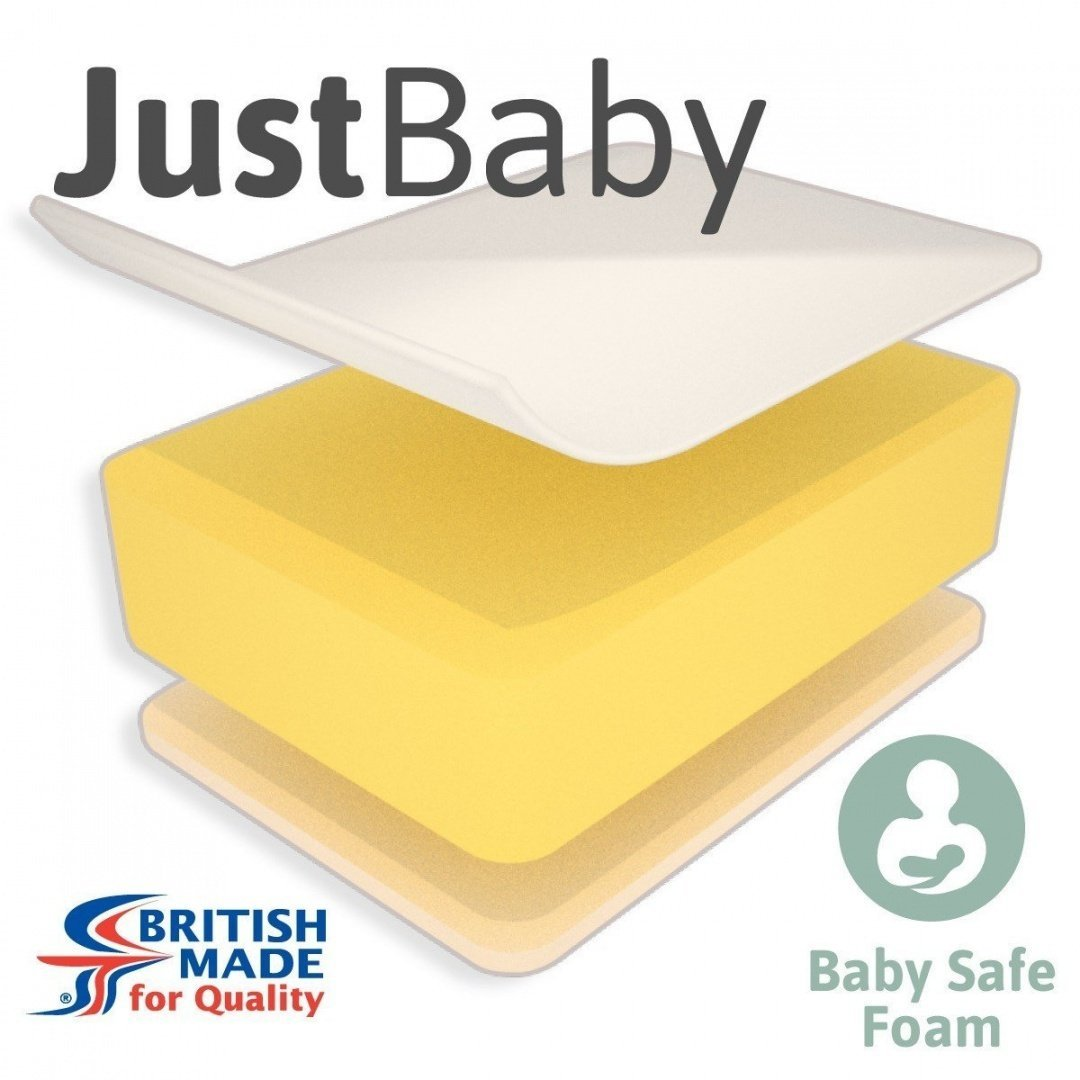 Little Mattress Company® - JustBaby Lite Cot Bed Mattress - 139cm x 69cm x 7cm - Including FREE Luxurious Soft Poly-Cotton Cover Little Mattress Company®