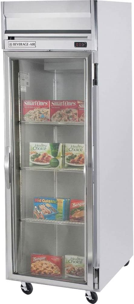"Beverage-Air HR1-1G 26"" Horizon Series One Section Glass Door Reach-In Refrigerator 24 cu.ft. capacity Stainless Steel Exterior and Interior"