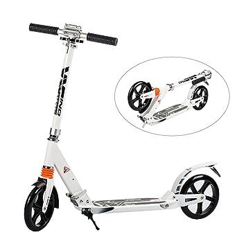 Windwalker K1 Scooter Patinete Plegable Rueda Grande 200 mm Monopatín 2 Ruedas para Niños Adultos Aluminio
