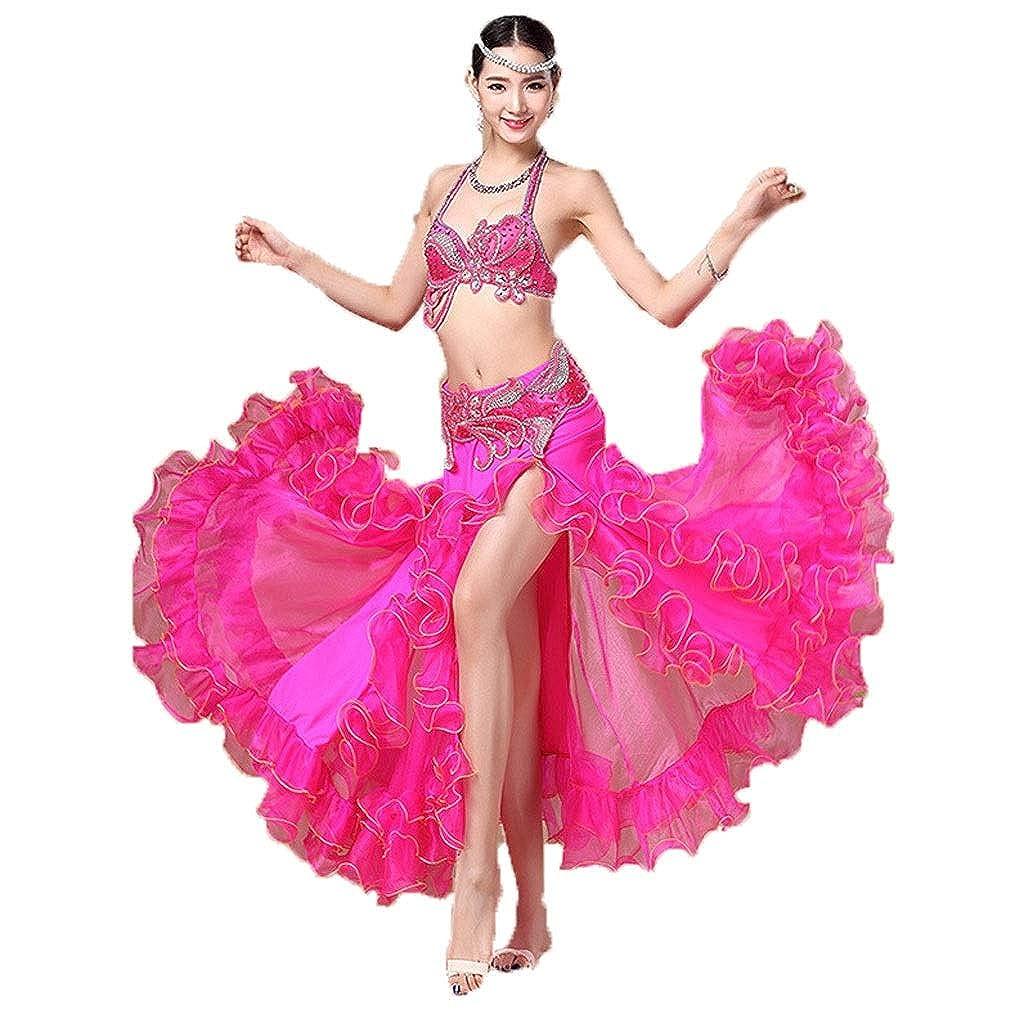 【日本産】 大人の女性のベリーダンスの衣装のスーツの性能の衣類のブラのスカートの分割のスーツ S B07P78KZR8 ローズレッド B07P78KZR8 S s|ローズレッド ローズレッド S s, 九重町:e7318635 --- a0267596.xsph.ru