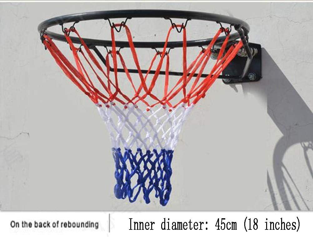 per Esterni Interno 45 Cmred con Vite a Rete Parete Canestro Anello Basketball Hoop Scatola da Pallacanestro Pallacanestro Montata Parete Cerchio Canestro Basket Esterno e Interno
