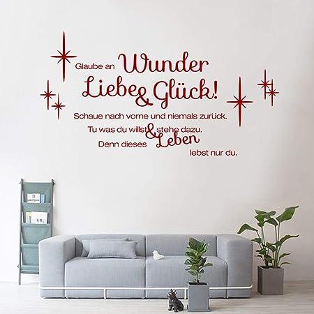 Decalmile Wandtattoo Sprüche Und Zitate Glaube An Wunder Liebe