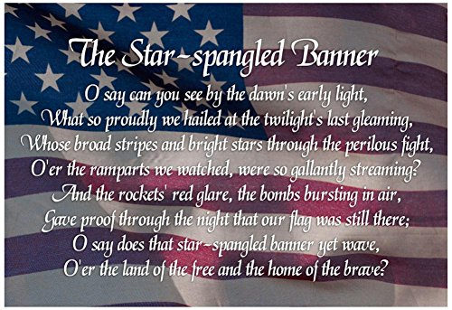 Star-spangled Banner Lyrics Poster 19 x 13in by Poster Revolution