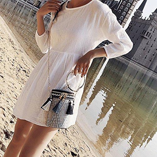 Pacchetto colore Gj Blu Barbona Rosso Della Bag Femminile Di Spiaggia Portatile Sacchetti Tessuto Modo Corsa Svago Crossbody aEqEr6