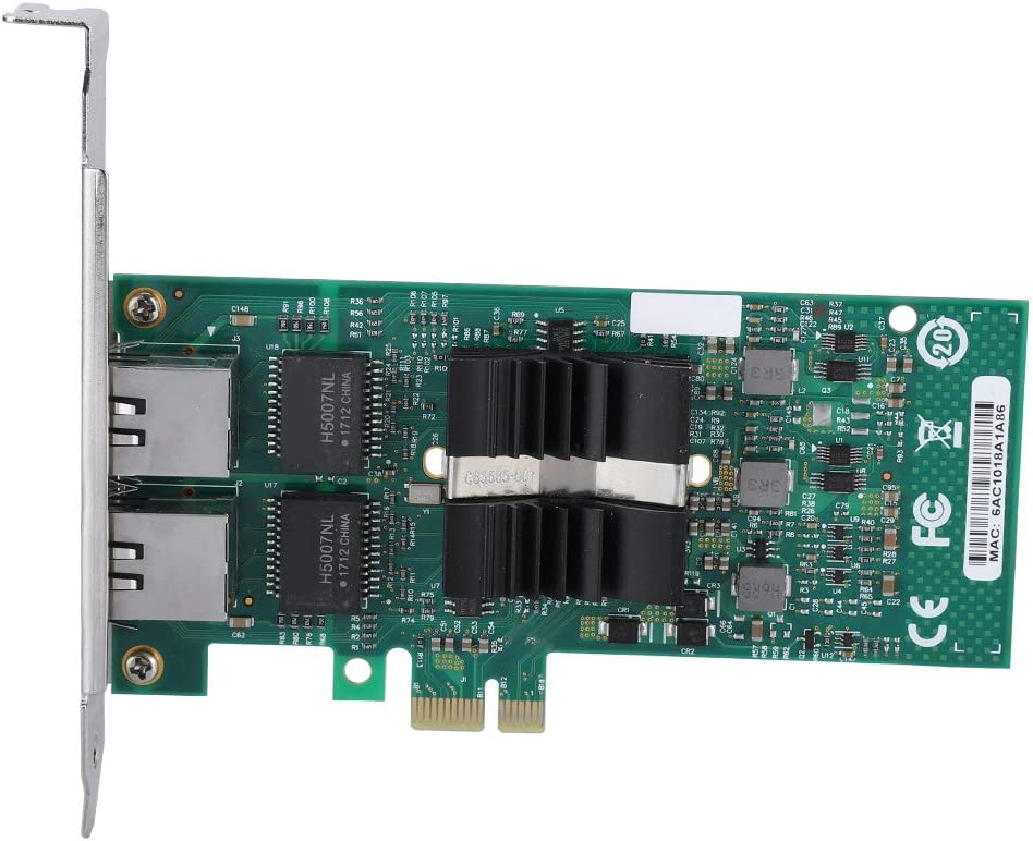 Mugast Network NIC Card PCI-E Dual Port Gigabit Network Card Adapter for Intel 82576 T2 Chip 10//100//1000 Mbps Transmission Rate