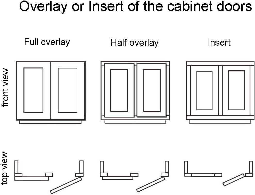 175 Degree Cabinet Corner Hinges Detachable For Wardrobe Kitchen Cupboard Door 1 Pair (insert) - -