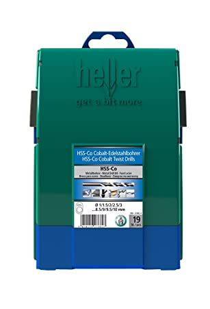 Heller 4mm HSS-G Long Series Super Twist Metal Drill Bits 10 Pack Ground German