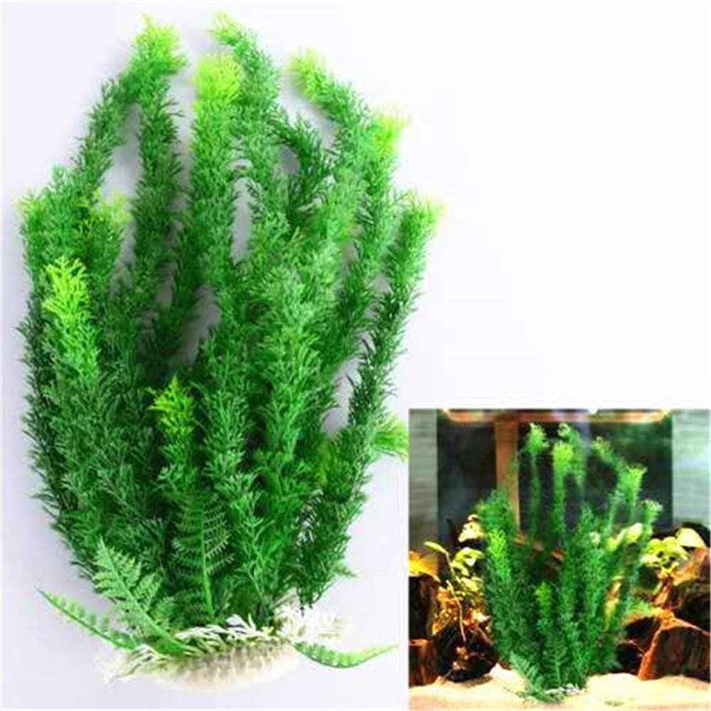 donau Green Large Aquarium Plants Plastic Fish Tank Plants Aquarium Decor 16.5 Inches by donau
