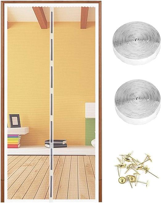 Mosquitera Puerta magnético la Pantalla de Insectos 90 x 210 cm ...