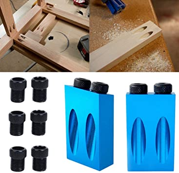 ULTECHNOVO 14PCS oblique hole drill set 15 degree angle locator bits hole jig woodwork guide clamp locator