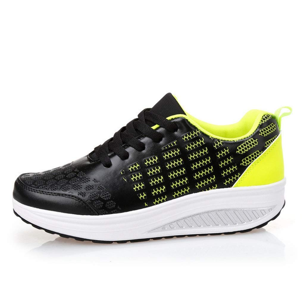 Lelehwhge Womens Summer Sneakers Casual Shoes Swing Fitness Outdoor Mesh Breathable Wedges Platform Tenis Shoes Gray 6 M US