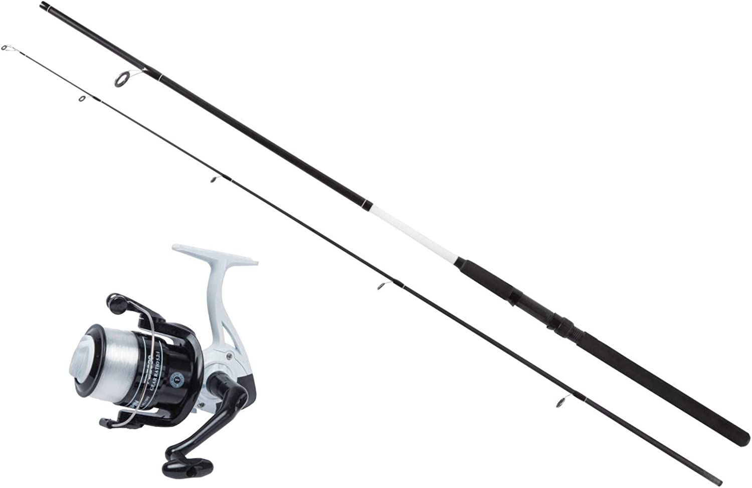 Available in 6-1.8m, 7-2.1m and 8-2.4m Fishzone DOMINO series ROD /& REEL SPINNING COMBO Rated 20-40g Medium Action. RIVER LAKE SEA Outstanding Value UK Brand