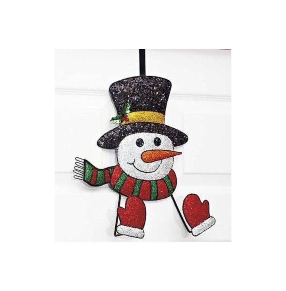 Christmas Wreath Hanger Snowman Door Holder Adorable Holiday Hangers Decor