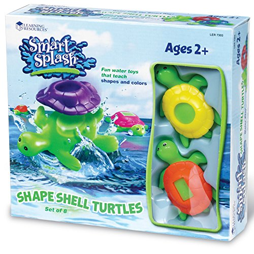"""Learning Resources Shape Shell Turtles, Set of 8,Multi-color,5"""""""