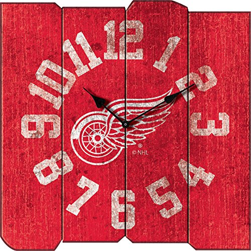 Detroit Red Wings Next Game (Imperial Officially Licensed NHL Merchandise: Vintage Square Clock, Detroit Red Wings)