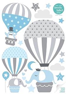 Lovely Label Wandsticker Selbstklebend HEISSLUFTBALLONS   Wandaufkleber  Kinderzimmer / Babyzimmer Mit Tieren   Wandtattoo Schlafzimmer Mädchen