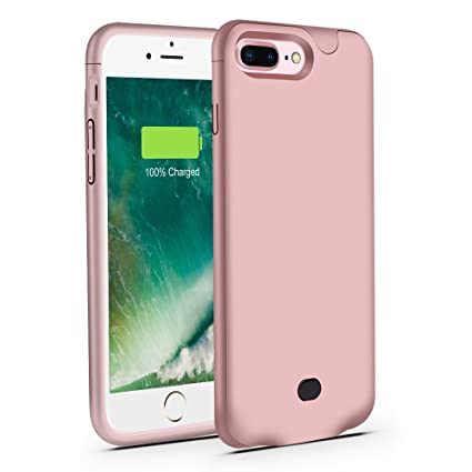 iphone 8 plus charger case rose gold