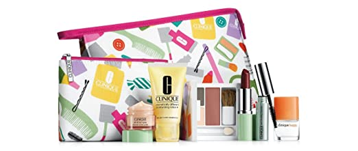 Amazon.com : Clinique Skin Care Makeup 8 Pc Gift Set 2014 Fall All ...