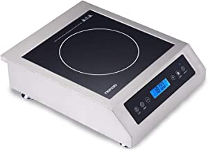 Professional Portable Induction Cooktop Countertop Induction Cooker with Digital Temperature Display With Heavy -Duty Stainless Steel Housing & Schott Glass Induction Cooker-FIC108