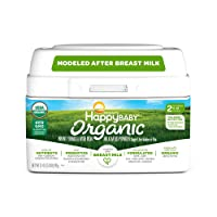 Happy Baby Organic Infant Formula Milk Based Powder with Iron, Stage 2, 21 Ounces...