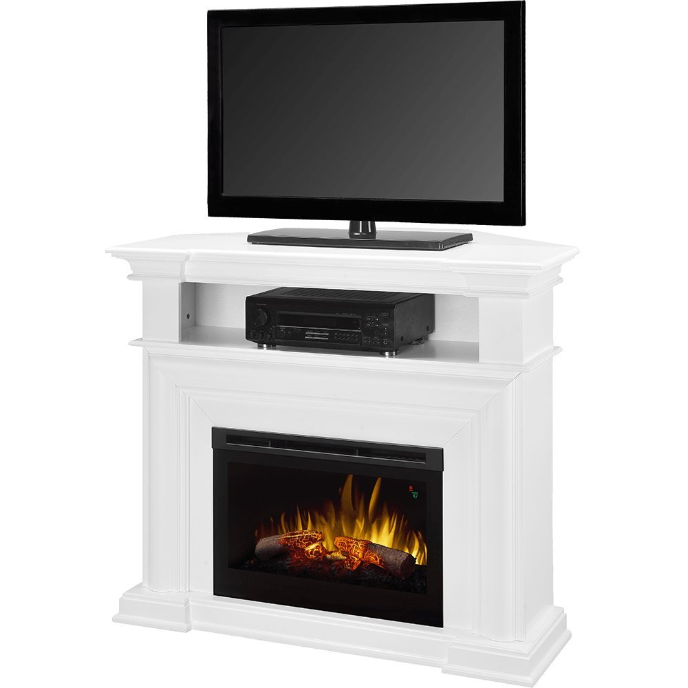 amazon com dimplex colleen corner tv stand with electric