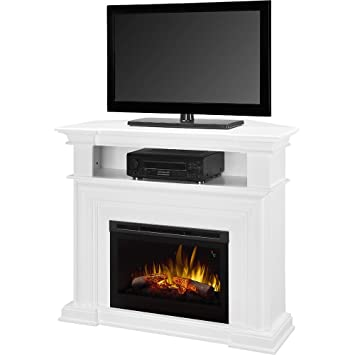 Amazon.com: Dimplex Colleen Corner TV Stand with Electric Fireplace in White: Home & Kitchen