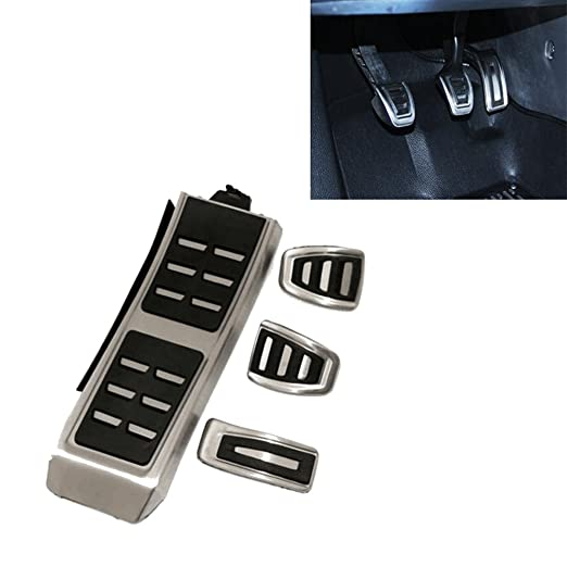 Tapones Pedal reposapiés para A4 B8 S4 RS4 A5, S5, RS5 A6 S6, A7, S7 Q3 Q5 8R SQ5 embrague Gas Pedal Pedal Pads cover: Amazon.es: Coche y moto