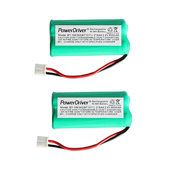 Amazon.com: PowerDriver® 2.4V Ni-MH Cordless Home Phone Battery ...