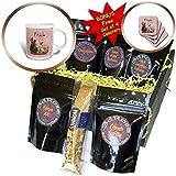 3dRose Uta Naumann Watercolor Animal Illustration - Autumn Fall Quote and Fruits Tea Animal Pink Illustration-Hedgehog - Coffee Gift Baskets - Coffee Gift Basket (cgb_265392_1)