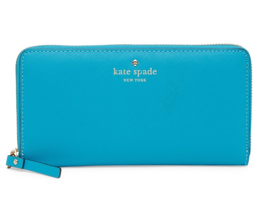 Kate Spade New York Lacey Wallet Neon Tourquoise