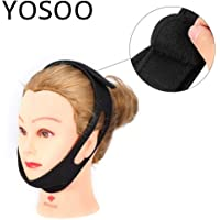 Stop Snoring Mask Supports Anti Snore Strap Nasal Sleeping Snoring Belt Snore Headband Sleep Apnea Chin Jaw Support Strap Braces & Color: White