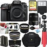 Nikon D7500 20.9MP DX-Format Digital SLR Camera + Sigma 70-300mm Macro Telephoto Lens Tascam Video Creator Bundle (Sigma 18-250mm Photo Editor Kit)