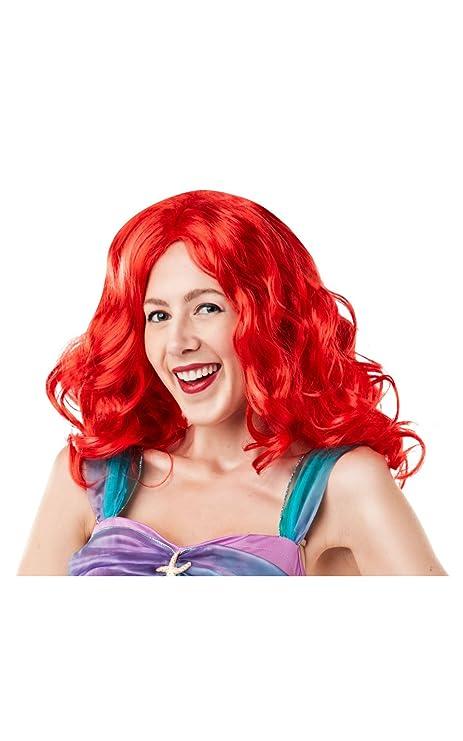 Rubie  s 38123 NS ufficiale Disney principessa sirenetta Ariel parrucca da  adulto 000e23586bd