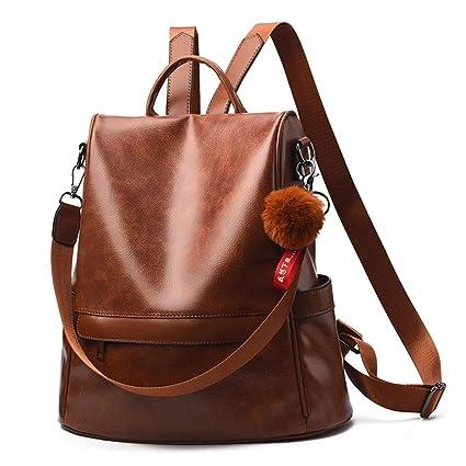 Women PU Leather Backpack Rucksack Handbag Shoulder Bags Messenger Tote Satchel