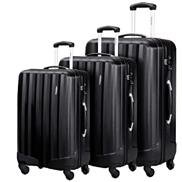 Amazon.com | Durable 3 Pcs Luggage Sets, Hardshell Spinner Suitcase with TSA Approved Locks, Lightweight Carry on Suitcase | Luggage Sets