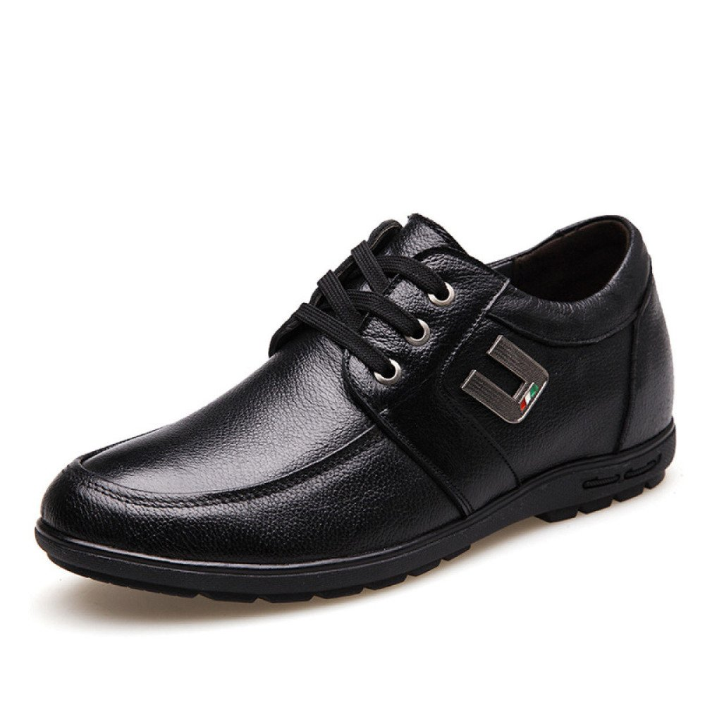 LEDLFIE Herren Echtleder Schuhe Frühling schwarz Business Casual Lederschuhe schwarz Frühling 074677