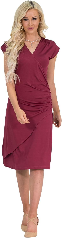 Jen Clothing Roxy Crossover Neckline Modest Dress Modest Nursing Dress