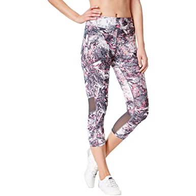 3446bc2e8fcd5a Image Unavailable. Image not available for. Color: Calvin Klein Performance  Womens Cropped Printed Athletic Leggings ...