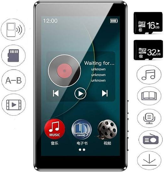 SEXTT Reproductores de MP3, de 3,0 Pulgadas de Pantalla táctil del ...
