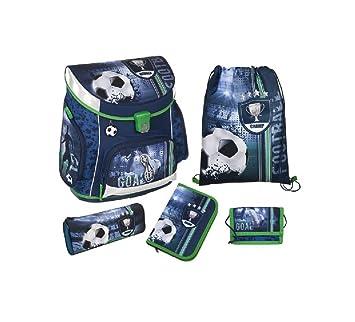Fútbol - - Mochila escolar mochila - Mochila escolar - 5 piezas: Amazon.es: Oficina y papelería
