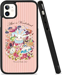 DISNEY COLLECTION Case for iPhone 11, Alice in Wonderland Ultra-Thin Soft TPU and Hard PC Tire Anti-Skid Case for Women Girls Drop Resistance Full Protective Cover for iPhone 11 6.1 Inch
